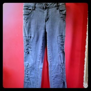 Royal bones distressed jeans